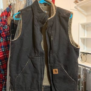 Brown carhartt vest size small